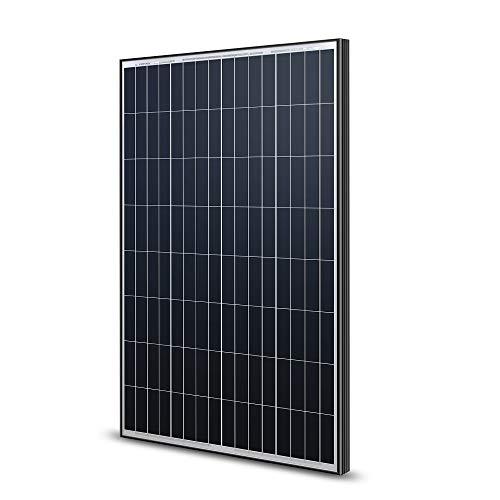 Renogy 100 Watt 12 Volt Monocrystalline Solar Panel -- Black Frame Sleek New Design (Glass Small Panels)