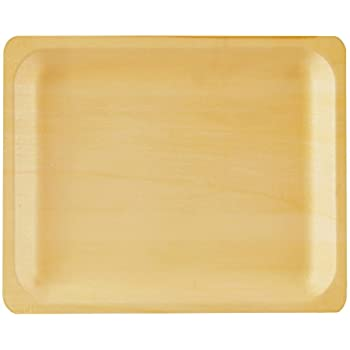 Perfect Stix Perfectware 10-50ct Wooden Disposable Rectangular Plates 10  (Pack of 50)  sc 1 st  Amazon.com & Amazon.com: Disposable Wood Plates 7.5u201d x 5.5u201d u2013 50Pk. Natural Eco ...