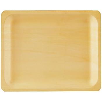 Perfect Stix Perfectware 10-50ct Wooden Disposable Rectangular Plates 10\  (Pack of 50)  sc 1 st  Amazon.com & Amazon.com: Disposable Wood Plates 7.5\u201d x 5.5\u201d \u2013 50Pk. Natural Eco ...
