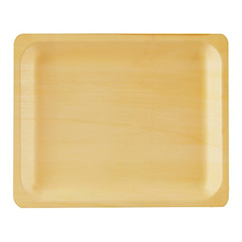 Perfect Stix Perfectware 10-50ct Wooden Disposable Rectangular Plates, 10