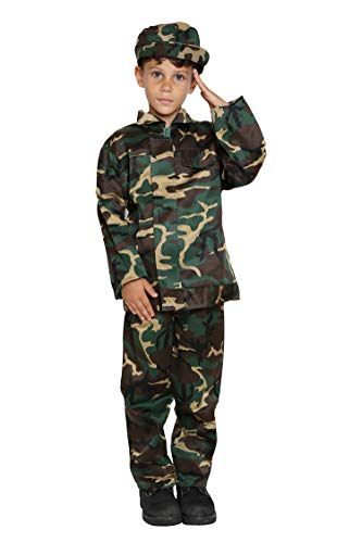 JasonParty Army Costumes Boys Camo Costume for Kids Army Military Costume Boys Soldier -