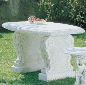 Universaltisch Tisch aus Betonwerkstein robuster Gartentisch rund
