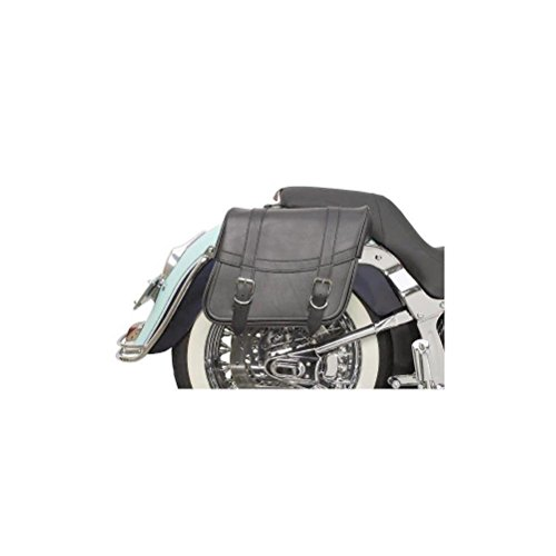 Saddlemen X021-02-040 Medium Plain Highwayman Slant-Style Saddlebag