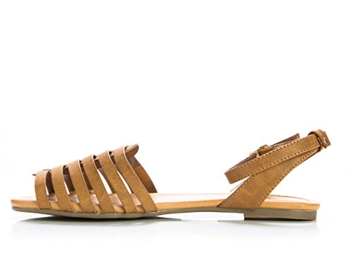 City Classified Womens Nista Ankle Strap Sandals Tan B4NNiQVR1m