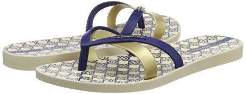 Sandalias navy Mujer Azul Ii Ipanema gold Silk OvqnU76