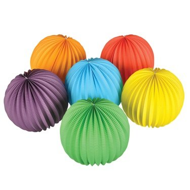 Solid Color Balloon Lanterns (pack of 6) - Lighted Header