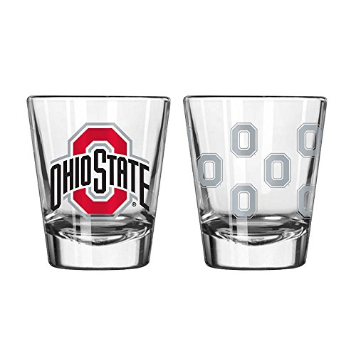 Boelter Brands NCAA Ohio State Buckeyes Shot GlassSatin Etch Style 2 Pack, Team Color, One Size