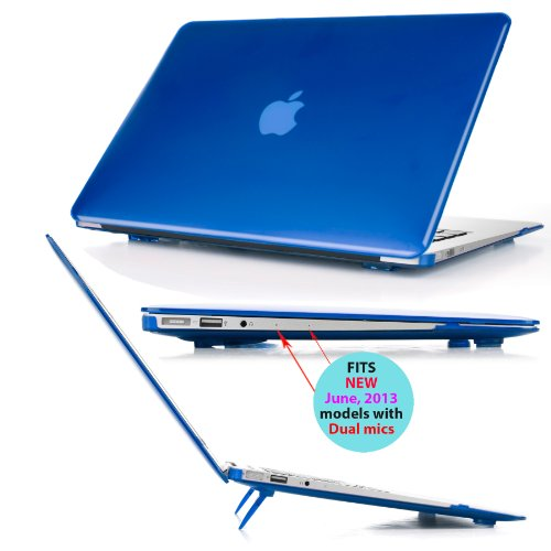 iPearl mCover Hard Shell Cover Case with FREE keyboard cover for 13.3-inch Apple MacBook Air A1369 & A1466 - BLUE