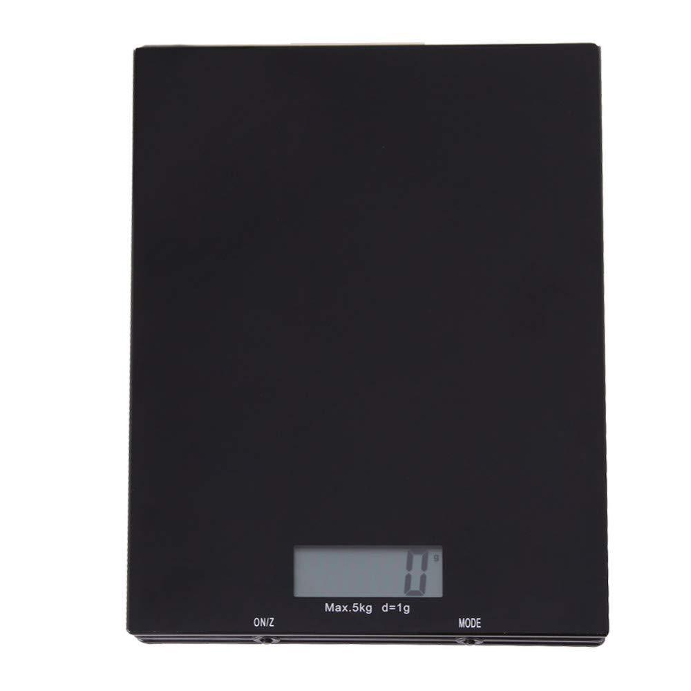 LOLIVEVE Básculas De Cocina 5Kg / 1G Lcd Plataforma De Acero Inoxidable Digital Balanza De Precisión Balanzas Electrónicas De Alimentos Balanceados: ...