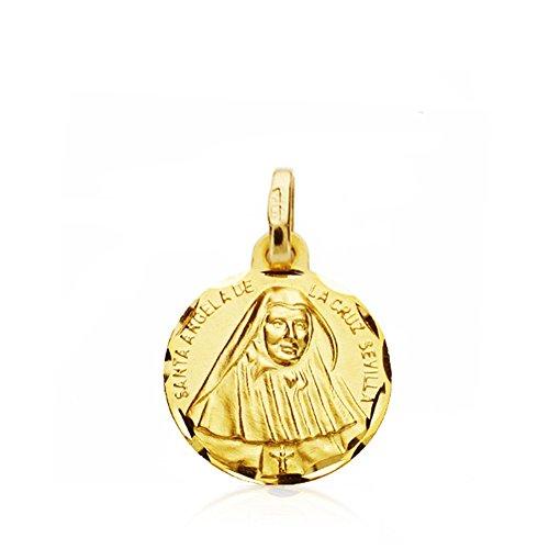 Médaille pendentif or 18k St. Angela Cruz [AB0795]