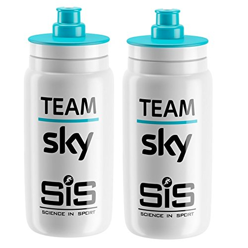 France De Bottle Water Tour (Elite Fly Team Sky SIS Cycling Water Bottles - 550ml, White (2 Pack))
