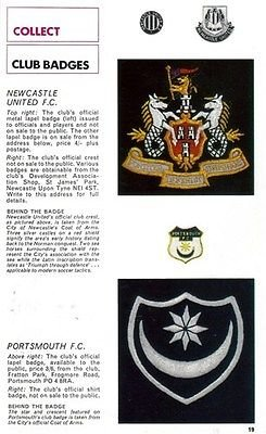 d558685ca07 FOOTBALL Review Club Badges picture Newcastle United MAGPIES + ...