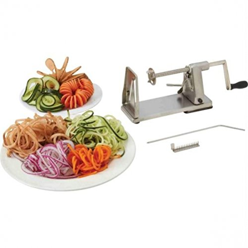 Maxam KTSPIRAL Stainless Steel Vegetable Spiral Slicer