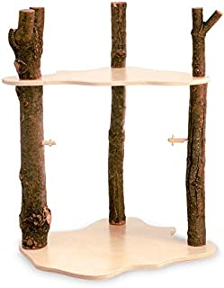 product image for Magic Cabin Dolls Wooden Fairy Forest Home with Three Wooden Branches and Two Platform Floors