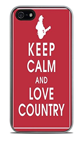 Keep Calm and Love Country White Silicone Case for iPhone 5 / 5S