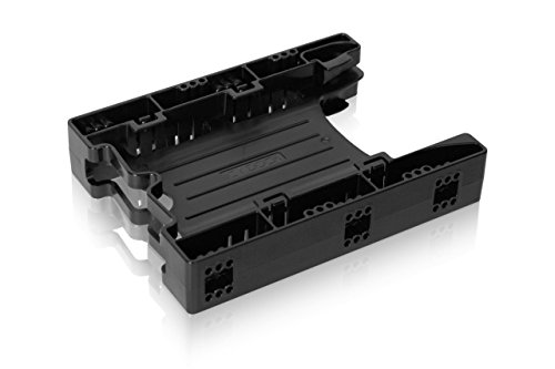 (ICY DOCK Dual Tool-Less Dual 2.5 to 3.5 HDD Drive Bay SSD Mounting Bracket Kit Adapter - EZ-Fit Lite MB290SP-B)