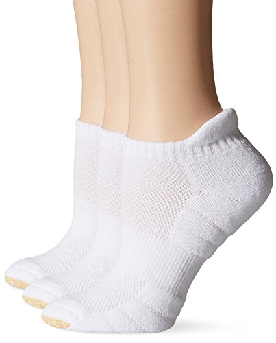 Gold Toe Women's Aquafx Zone Tab Liner Athletic Sock, White, Shoe Size 6-9, Sock Size 9-11(Pack of ()