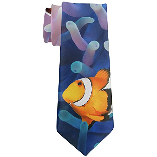 Clownfish Sea Anemone All Over Neck Tie Multi