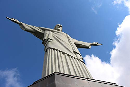Home Comforts Canvas Print Brazil Christ Christ The Redeemer Corcovado Statue Vivid Imagery Stretched Canvas 32 x 24 ()