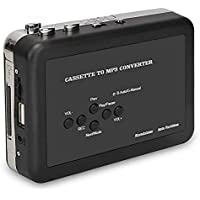 $25 Get Cassette Player USB Cassette to MP3 Converter, Portable Cassette Audio Music Player Tape-to…