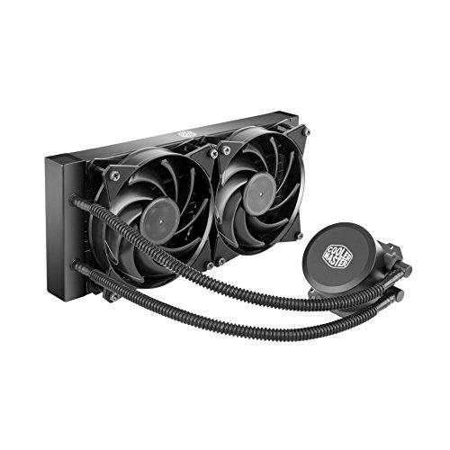 Cooler Master MasterLiquid Lite 240 All-in-one CPU Liquid Cooler with Dual Chamber Pump, INTEL/AMD with AM4 Support