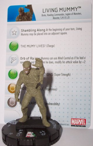 Heroclix Marvel Amazing Spider-man: Living Mummy 011 with Character Card (Amazing Mummies)