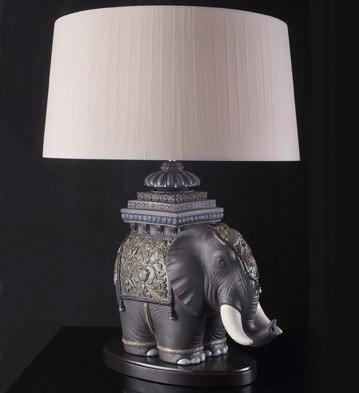 Siamese Elephant - Lladro Siamese Elephant Lamp