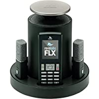 Revolabs 10-FLX2-200-DUAL-VOIP FLX 2 VoIP SIP System with Two Omnidirectional Tabletop Microphones and Two Speakers, Superior Audio Quality, Handset Calls or Speaker Calls, Connect to an IP PBX