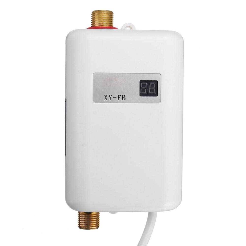 Umiwe Mini Electric Tankless Instant Water Heater 110V 3000W - Automatic Power-Off - Easy Installation
