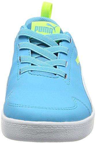 Puma Courtflex Ps, Zapatillas Unisex Niños Azul (Blue Atoll-puma White 02)