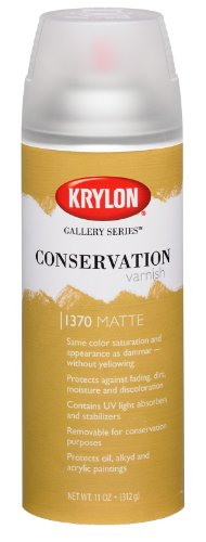 Krylon K01370000 Gallery Series Conservation Varnish Aerosol Spray, Matte, 11 Ounce (Series Varnish Gallery Conservation)