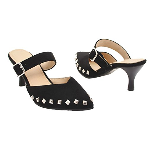JYshoes JYshoes Noir JYshoes Femme Noir Mules Mules Femme Mules Noir Femme 0qw0Tf