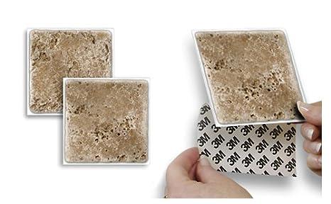 Adesivo da parete stick e go piastrelle travertino non cemento e
