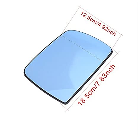 Ricoy Blue Wide Angle Sight Rearview Heated Mirror Glass For X5 E53 2000-2006 Left