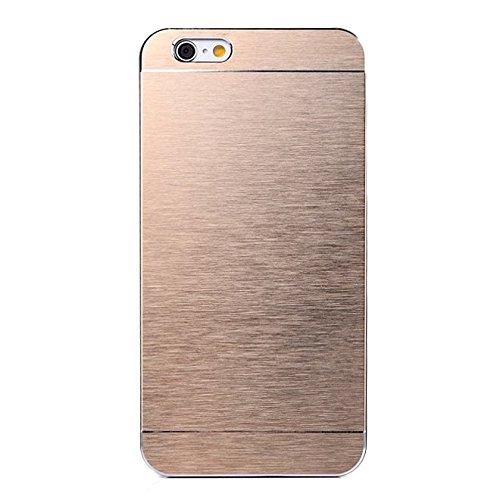 iPhone 6 PLUS 13,97 cm Hartschale aus Aluminium Rahmen Gold Case Größe + 2 Folien Kit