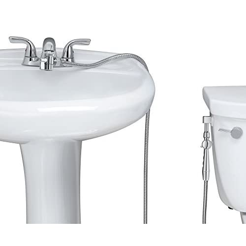 New!! Aquaus 360° for Faucet Warm Water Bidet w/ EZ Thumb pressure Controls on both sides of the sprayer., Model: ABF-360, Outdoor & Hardware Store cheap