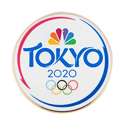 2020 Summer Olympics Tokyo Japan NBC Sports White Lapel - Pin Button Olympic
