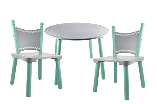 Whale Painted Wood Kids table and chair set