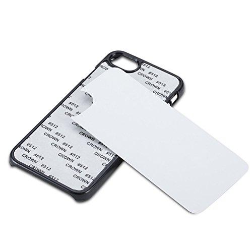 20 PCS x DWaybox DIY 2D PC Sublimation Blank Plastic Hard Phone Case with Aluminium Plate for Apple iPhone 7 / iPhone 8 4.7 Inch 20PCS/LOT (Black)