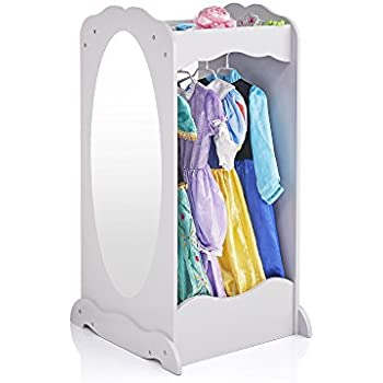 Amazon.com: Guidecraft Dress Up Cubby Center - Grey: Kids' Armoire, Dresser with Mirror, Storage