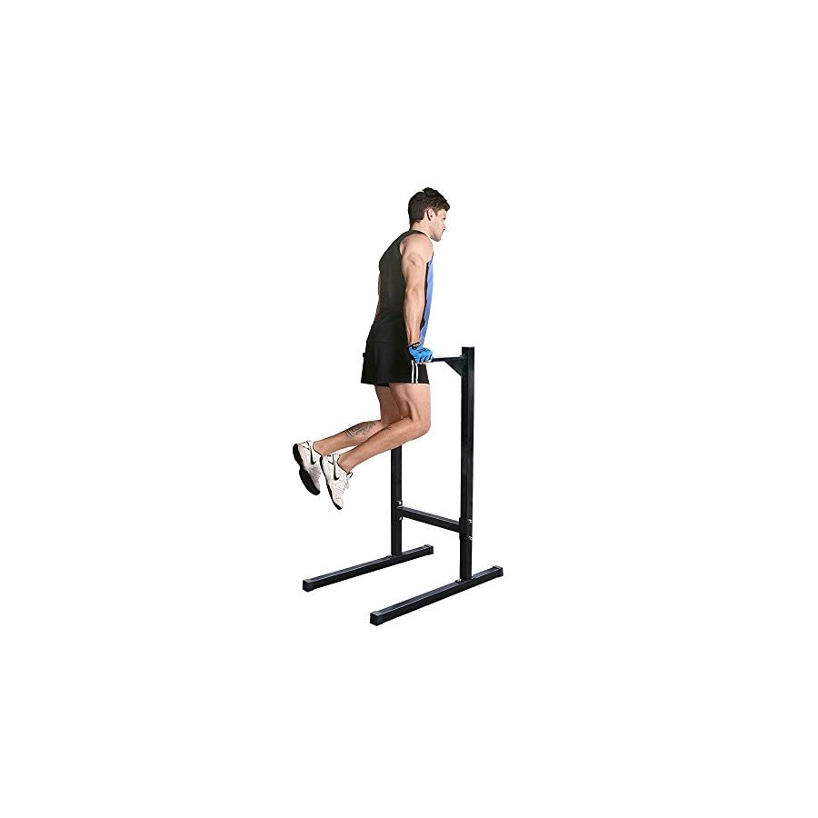 Zeny Dipping station Dip Stand Pull Push Up Bar Fitness Exercise Workout Gym 500lbs (#1)