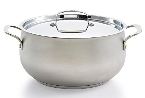 Belgique Stainless Steel Sand Blasted 7.5 qt Dutch Oven