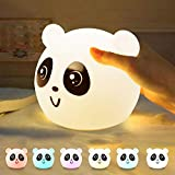 Baby Tap Night Light Panda,7 Colors LED Nursery Night Lights for Kids, Modes Touch Type USB Charging Nursing Bedroom Bedside Atmosphere Creation Review