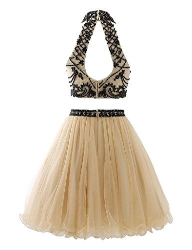 Ysmo - Vestido - trapecio - para mujer champán