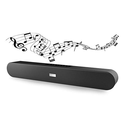 Ralthy Bluetooth Sound Bar Stereo BT Speaker System, Wired and Wireless Speakers Multifunction Soundbar Subwoofer 3D Surround Audio for Home Theater/Cell Phone/Projector/TV/FM Radio(No Remote)