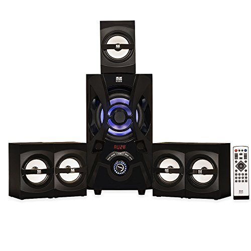 Blue Octave Home B53 5.1 Surround Sound with LED lights and Bluetooth Home Entertainment System (Bluetooth Surround System)