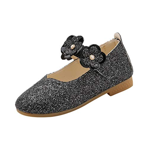 - IAMUP Girls Outdoor Shoes Toddler Infant Kids Baby Girls Flower Bling Sequins Single Princess Casual Party Shoes Black