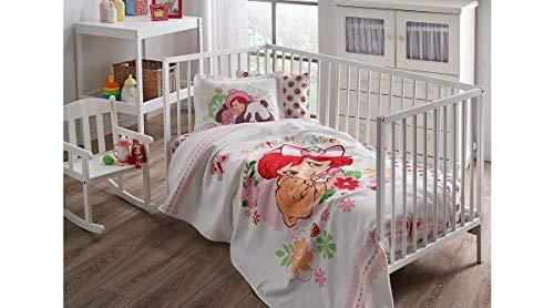 %100 Cotton Disney Strawberry Shortcake Baby Coverlet Nursery Spread Pique Set Lightning Mc Queen