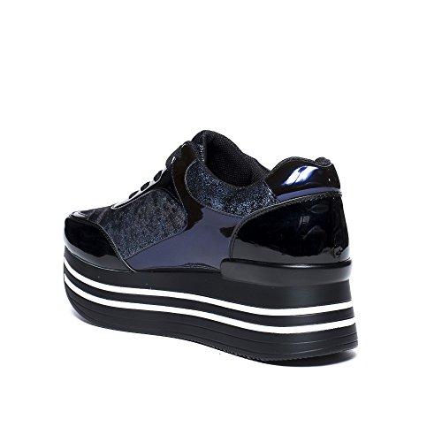 à Ideal Plateforme Bleu Shoes Baskets Ideal Shoes Augustina nqIq1R