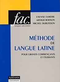 Méthode de la langue latine par Étienne Famerie